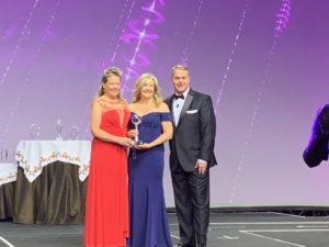 Left to right: Camille Mims, Vicki Hamp & Joe Horning at LeadingRE 2018 Awards